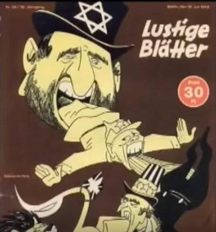 Naziści [narodowi socjaliści] używali kreskówek w celu warunkowania-programowania umysłów Niemców przeciw żydom